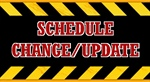 Scheduling Update, no show Tonight and change to recurring schedule